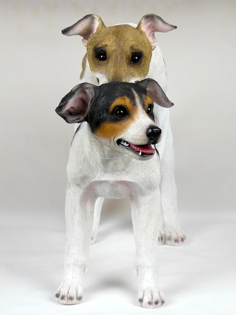 Statue Jack Russells (face)