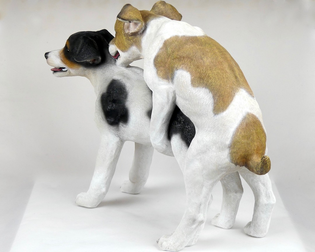 Statue Jack Russells (3/4 dos)