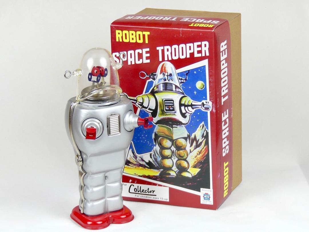 Robot Gris Space Trooper (boîte)