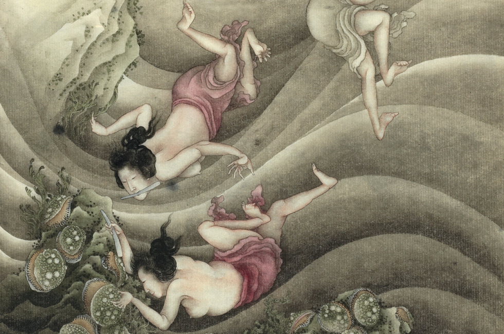 Les pêcheuses de perles d'Hokusai