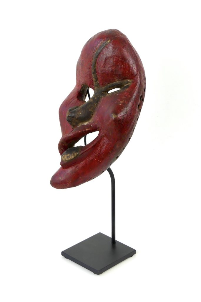 Masque iroquois False Face rouge (3/4)
