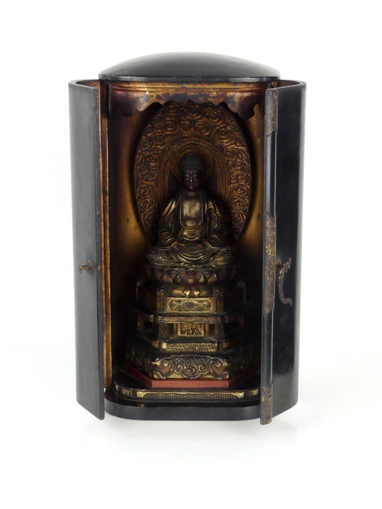 Butsudan Bouddha Amida (entrouvert)