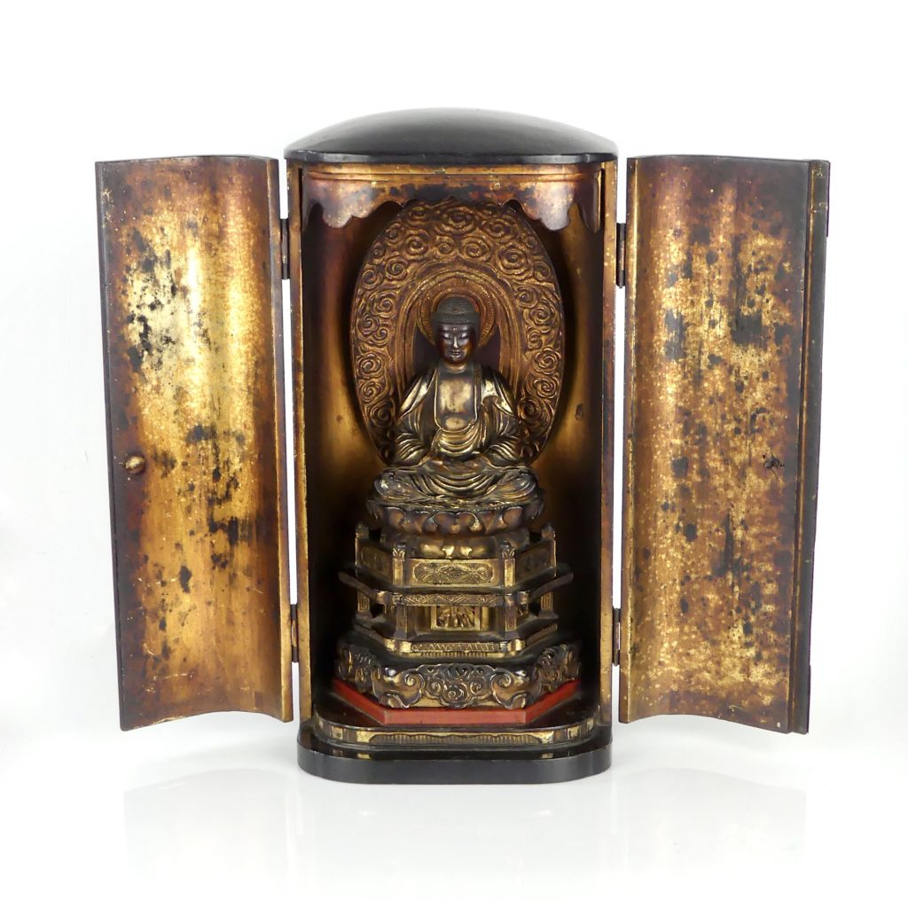 Butsudan Bouddha Amida (ouvert)