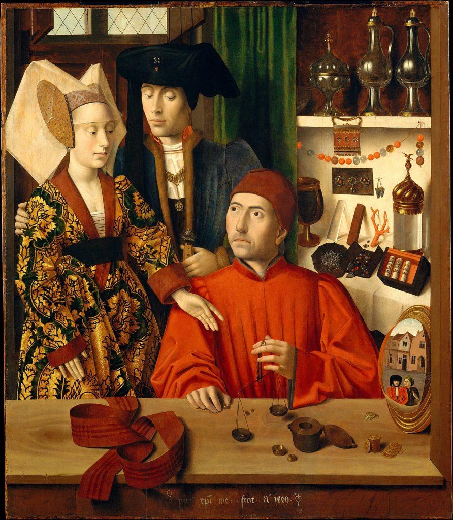 Petrus Christus - Un orfèvre dans son atelier, peut-être saint Éloi