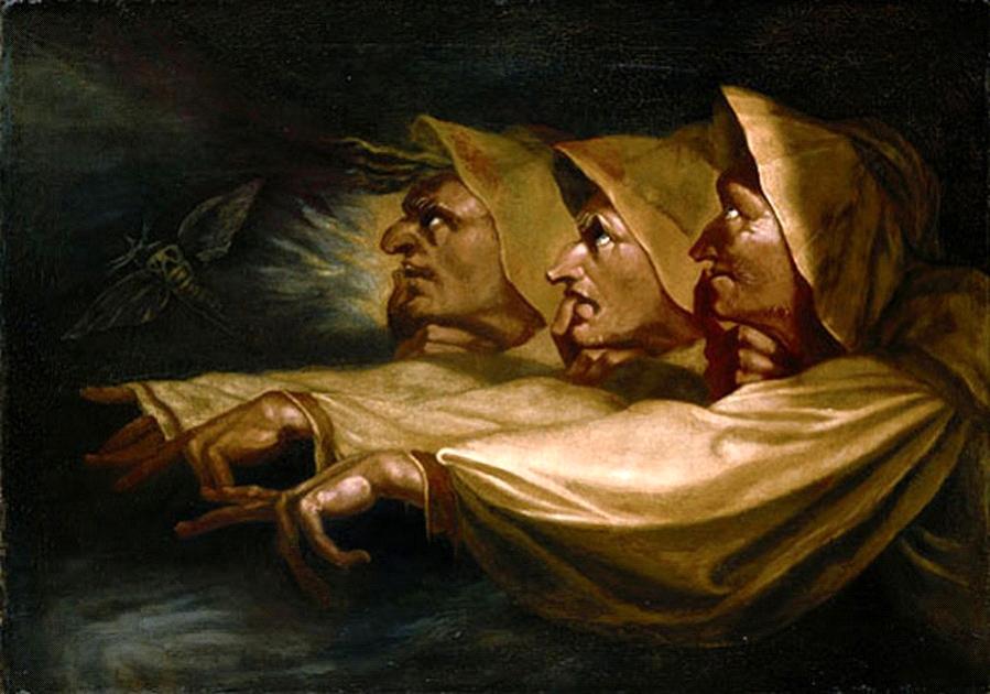 Füssli, Les 3 sorcières, huile sur toile, 1782